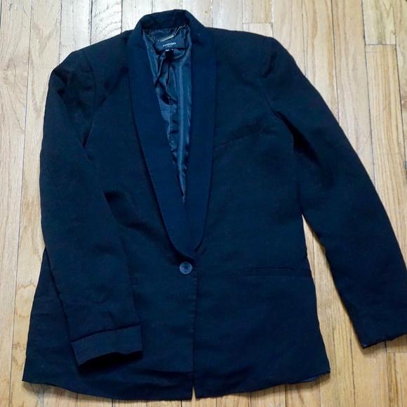Mango Jackets & Blazers - MANGO Oversized Black Suit Jacket Size XS